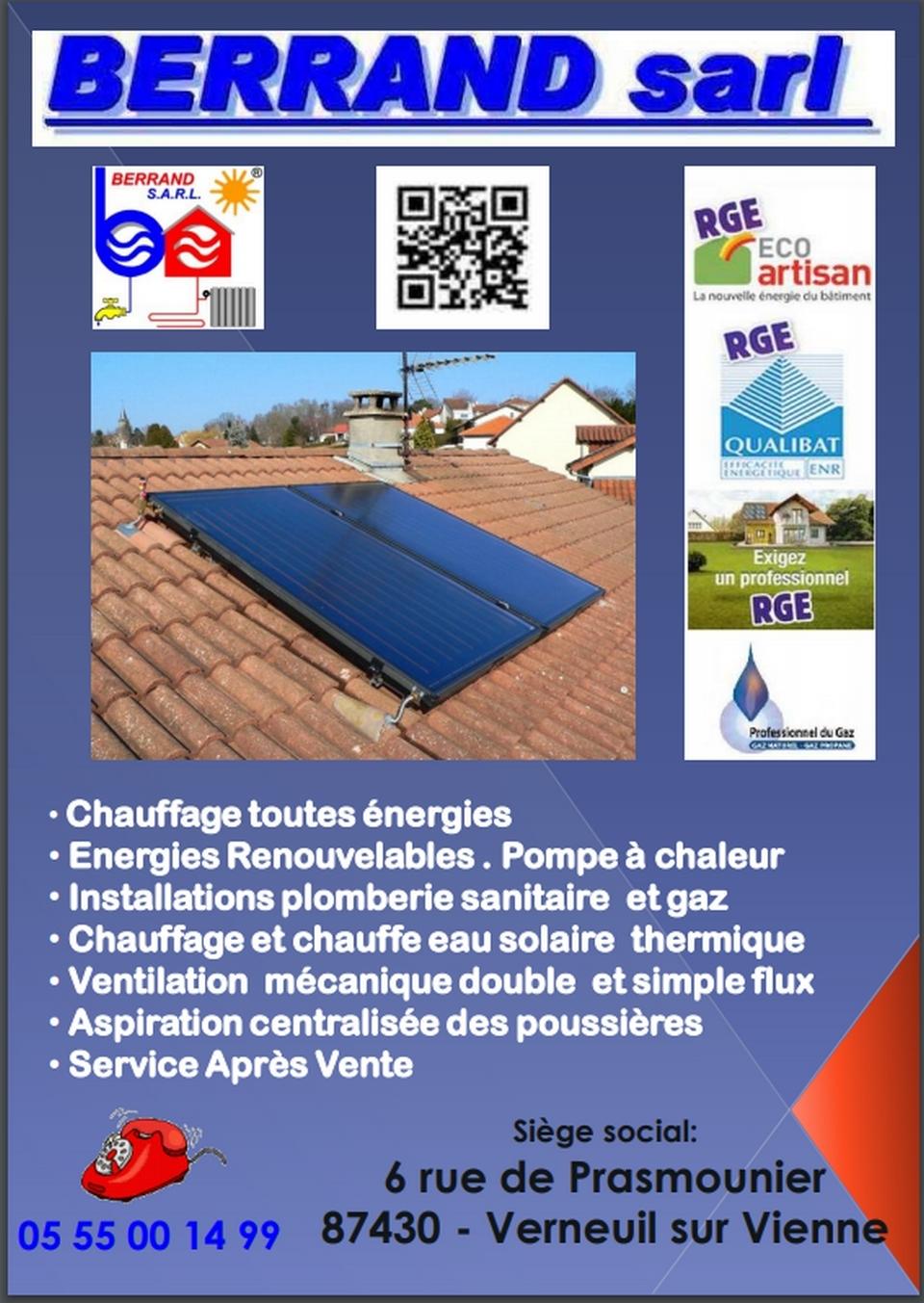 Flyer de présentation de l'entreprise