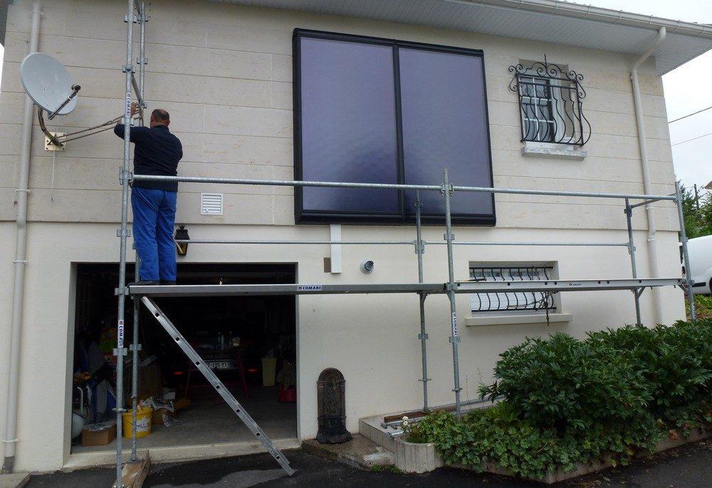Panneau capteur solaire vertical FRISQUET