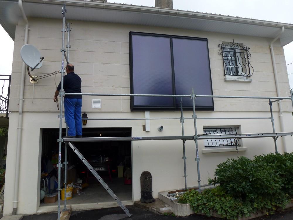 Capteur solaire vertical FRISQUET