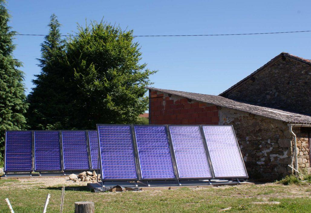 16 m² de panneaux solaires pour chauffage solaire SSC