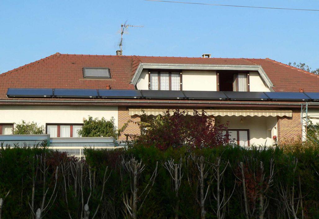 Capteurs solaires en version horizontale en SSC
