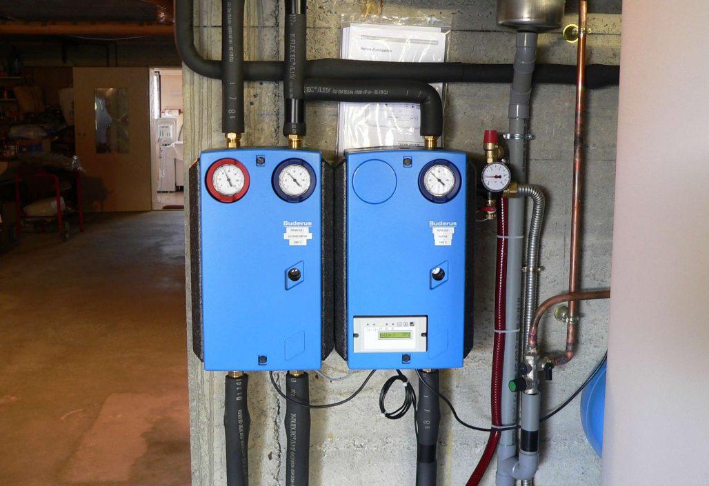 Coffret régulation vers chauffage et eau chaude sanitaire