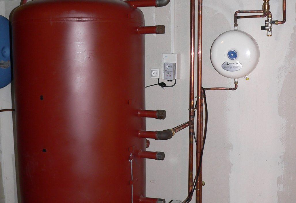 Chaufferie solaire avec ballon tampon chauffage/eau chaude
