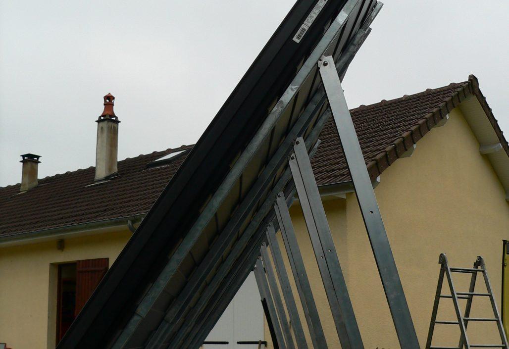 Supports panneaux solaires sur muret